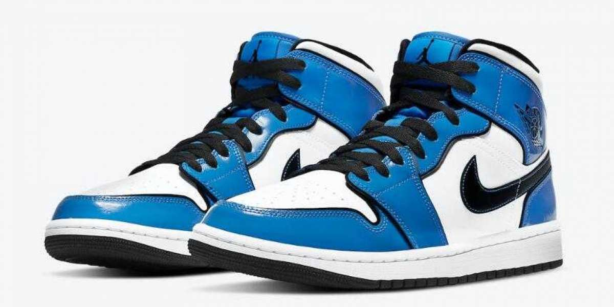 DD6834-402 Air Jordan 1 Mid SE Signal Blue Releasing Soon