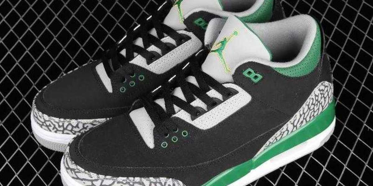 Lastly Air Jordan 3 Retro Black Pink Green White CT8532-030 Men's Basketball Sneakers